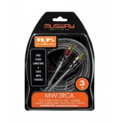 Musway MW3RCA 3-Meter RCA Cable
