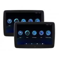 "10.1"" x2 Android Rear Seat Monitor USB Wi-Fi MirrorLink"